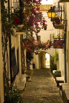 улица в городе Кадакес (Каталония,Испания)