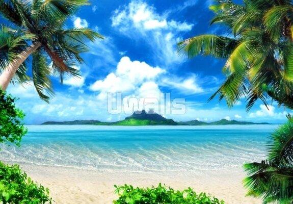 объемные фотообои с пляжем