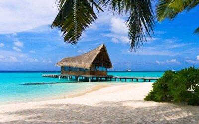 Фотообои уютный домик у моря
