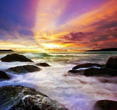 Фотообои Сиреневый закат