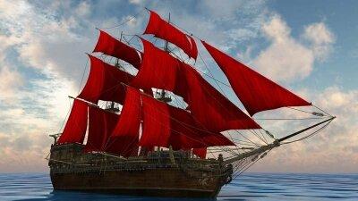 Фотообои корабль из книги «Алые паруса»