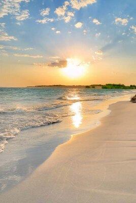 фотообои с закатом солнца на море