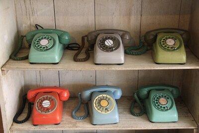 Винтажные фотообои Телефоны