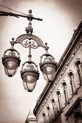 Винтажные фотообои Городской фонарь