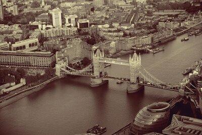 Винтажные фотообои Панорама города