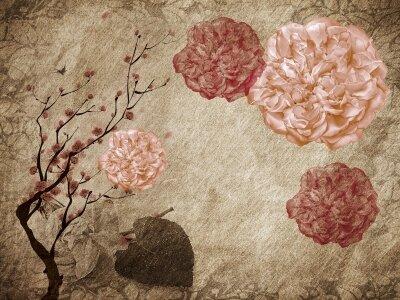 Фотообои цветы винтаж