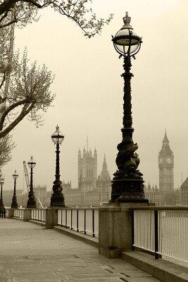 Винтажные фотообои Утренний Лондон
