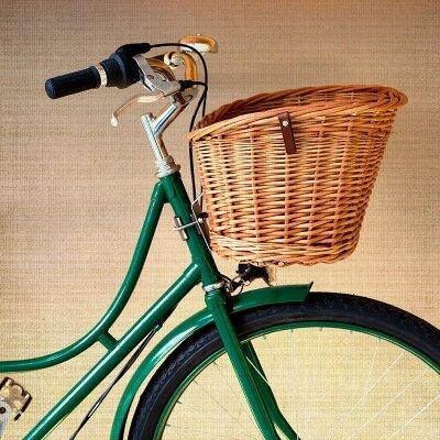 Винтажные фотообои Велосипед с корзиной