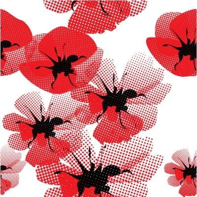 Арт фотообои Красные цветы