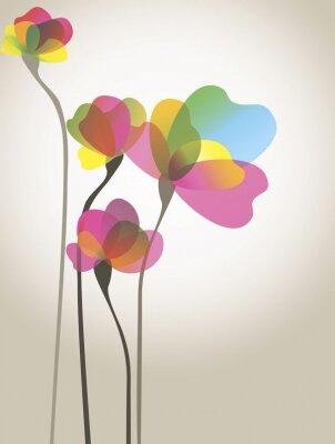 Арт фотообои Радужный лепестки