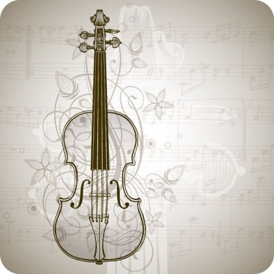 Арт фотообои Иллюстрация со скрипкой