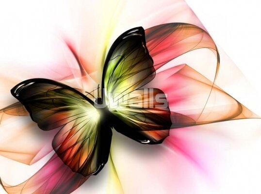 Арт фотообои разноцветная бабочка