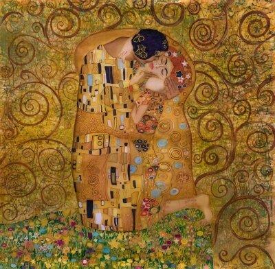 картина австрийского художника Климта «Поцелуй»