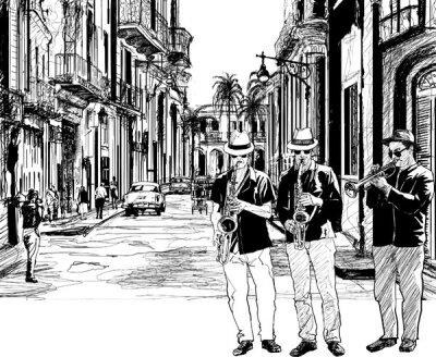 Арт фотообои Уличные музыканты