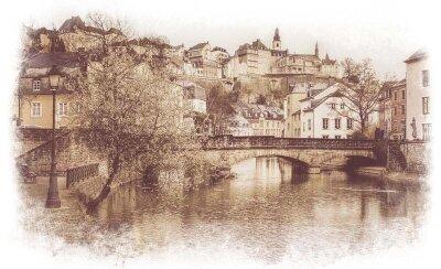 Фотообои Винтажный Люксембург