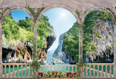 Фотообои арка с видом на бухту