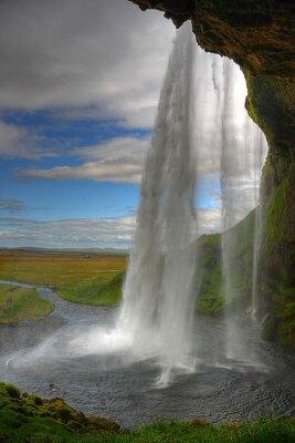 Фотообои Обрывистый водопад в Чили