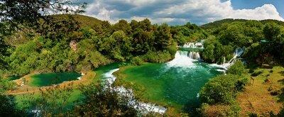 Фотообои Панорама водопада