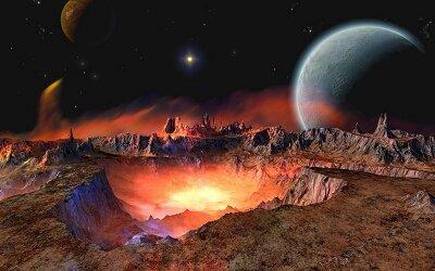 Фотообои на стену Вид с планеты