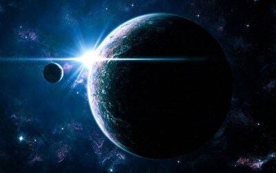 Фотообои на стену Земля со спутником