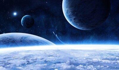 Фотообои на стену Облака над планетой