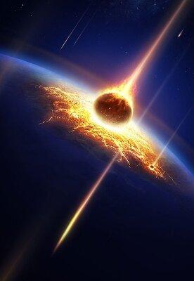 Фотообои на стену Падение метеорита