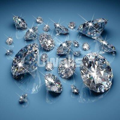 Фотообои для зала Россыпь бриллиантов