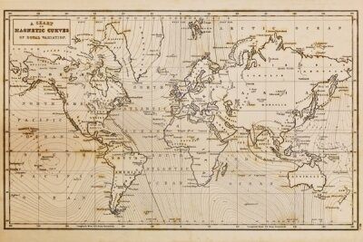 Фотообои для зала Карта мира