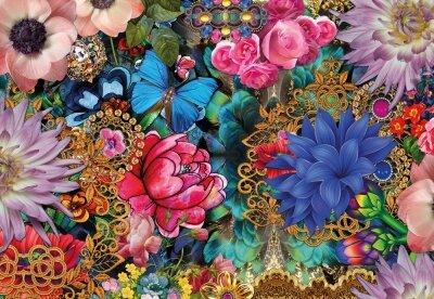 Фотообои Цветочная фантазия