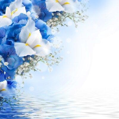 Фотообои Цветы над водой