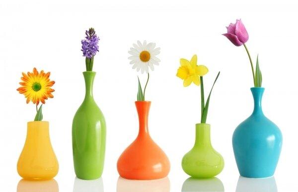 Фотообои Цветы в вазах