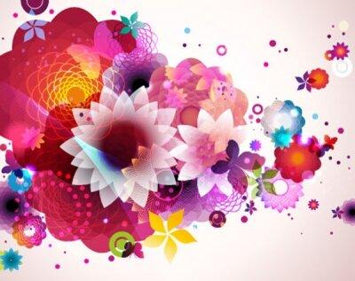 Фотообои для спальни Цветочная абстракция