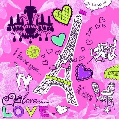 Фотообои Парижская влюблённость