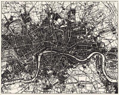 Фотообои в прихожую Карта улиц Лондона