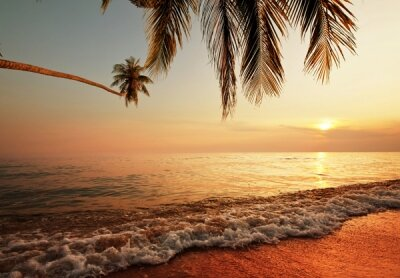Фотообои в прихожую Волны у берега