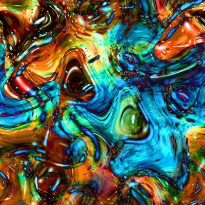 Фотообои в коридор Цветная абстракция