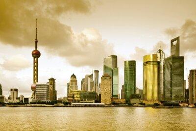 Фотообои в прихожую Башня в Шанхае