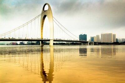 Фотообои в прихожую Золотой мост