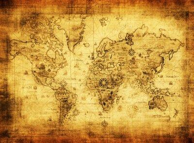 Фотообои для офиса Старая карта материков