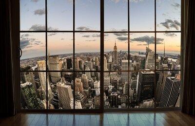 Фотообои с окном Вид на Манхеттен