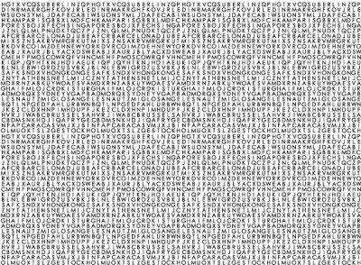 Дизайнерские фотообои буквы,бумага