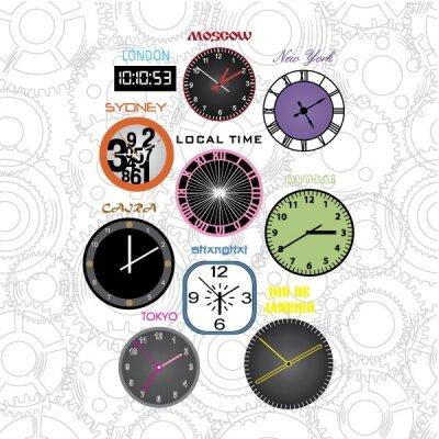 Дизайнерские фотообои часы,время