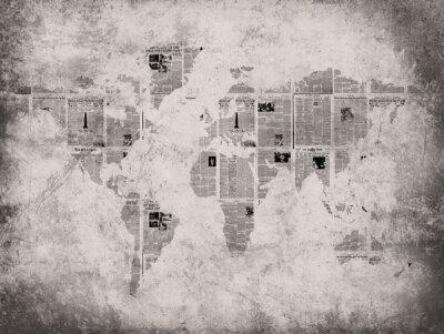 Дизайнерские фотообои карта,газеты