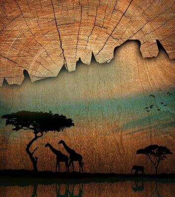 Африка жирафы слон