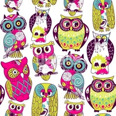 Разноцветные совы