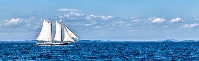 Фотообои Панорама с парусником