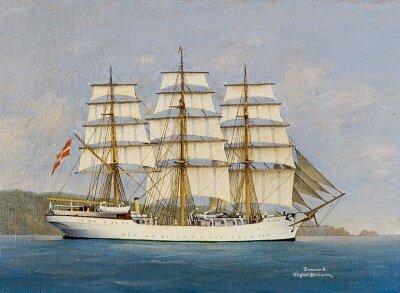 Фотообои Картина с кораблем