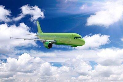 Фотообои Зеленый самолет