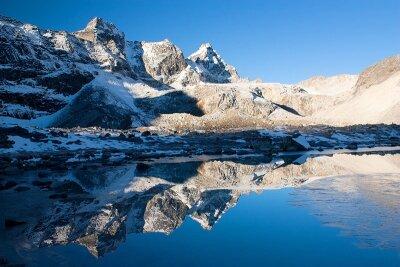 Отражение гор в воде