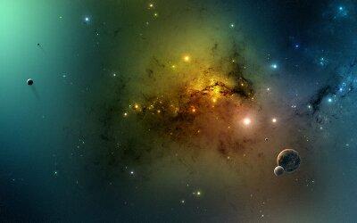 Фотообои на потолок Далекая галактика